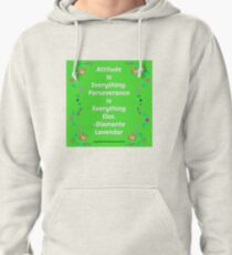 Attitude Is Everything by Diamante Lavendar Pullover Hoodie