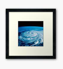 Eye of Hurricane Elena in the Gulf of Mexico. Framed Print