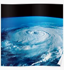 Eye of Hurricane Elena in the Gulf of Mexico. Poster