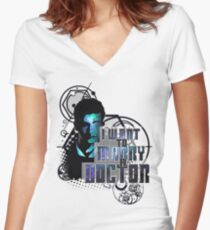 Marry a Doctor Tennant Women's Fitted V-Neck T-Shirt