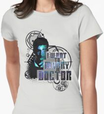 Marry a Doctor Tennant Women's Fitted T-Shirt