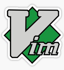 Vim logo Sticker