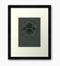 In his house at R'lyeh dead Cthulhu waits dreaming Framed Print