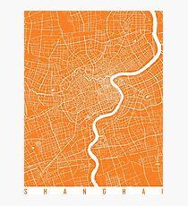 Shanghai map orange Photographic Print
