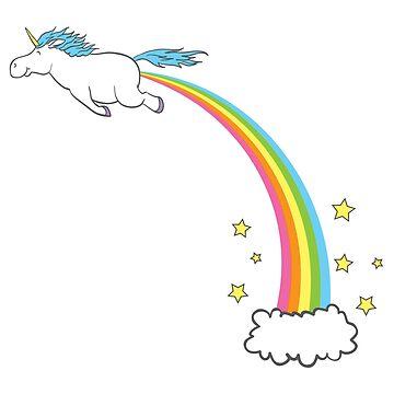 Unicorn Rainbow Fart Pastel by beckyb