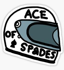 Ace of Spades helmet Sticker
