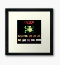 Retro Geek - Frogger Framed Print