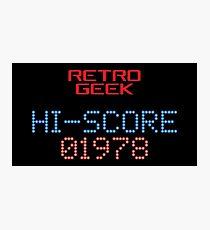 Retro Geek - Hi-Score Photographic Print