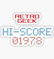 Retro Geek - Hi-Score Sticker