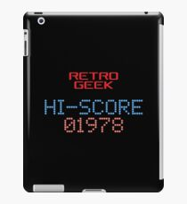 Retro Geek - Hi-Score iPad Case/Skin