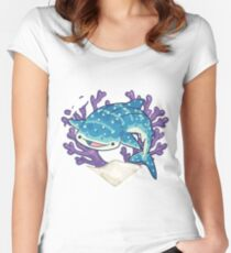 NOM the Whale Shark Women's Fitted Scoop T-Shirt