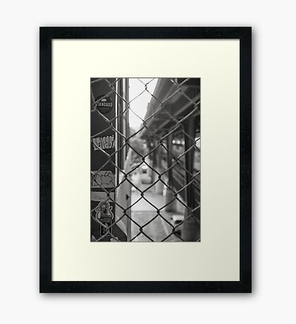 The Smallest Gap - Sydney - Australia Framed Print