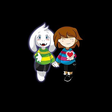 Undertale Asriel and Frisk Together  by ZARIAA