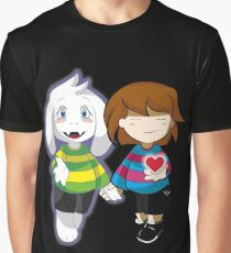 Undertale Asriel and Frisk Together  Graphic T-Shirt