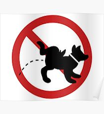 stop dog Poster