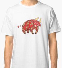 Red Decorative Bull Classic T-Shirt