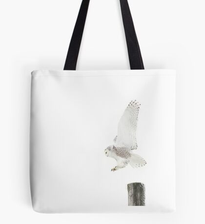 Startled 2 - Snowy Owl Tote Bag