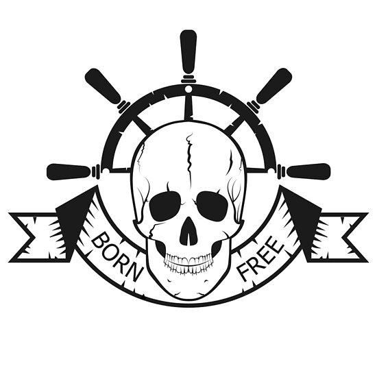 The Skull Of A Sea Devil Pirate Logo By Pashigorov