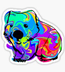 Colorful Wombat Sticker