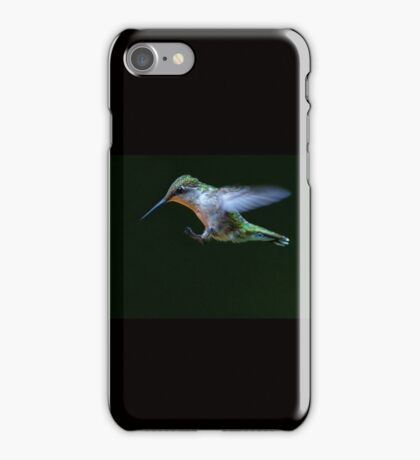 Incoming - Ruby-throated hummingbird iPhone Case/Skin