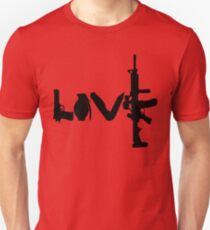 Camiseta ajustada Armas de amor - versión 1 - negro