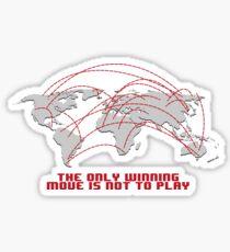 First strike wargame world Sticker