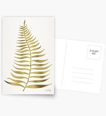 Golden Palm Leaf Postcards