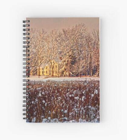 Snow Covered Farm Field Spiral Notebook