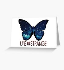 Life is Strange Galaxy Butterfly Greeting Card