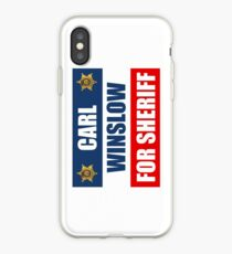 Carl Winslow for Sheriff 3 iPhone Case