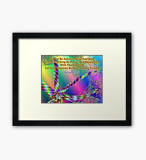 Philippians 4:6 Do Not Be Anxious About Anything Framed Print