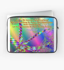 Philippians 4:6 Do Not Be Anxious About Anything Laptop Sleeve
