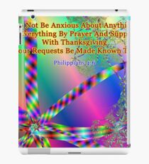 Philippians 4:6 Do Not Be Anxious About Anything iPad Case/Skin