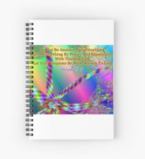 Philippians 4:6 Do Not Be Anxious About Anything Spiral Notebook
