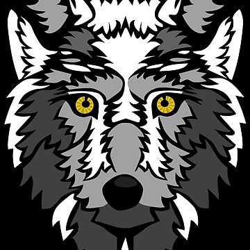 Stylized Wolf by askal13