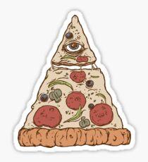Conspiracy pizza Sticker