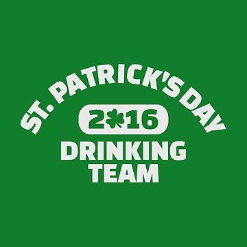 St Patrick trinkendes Team 2016 von Designzz