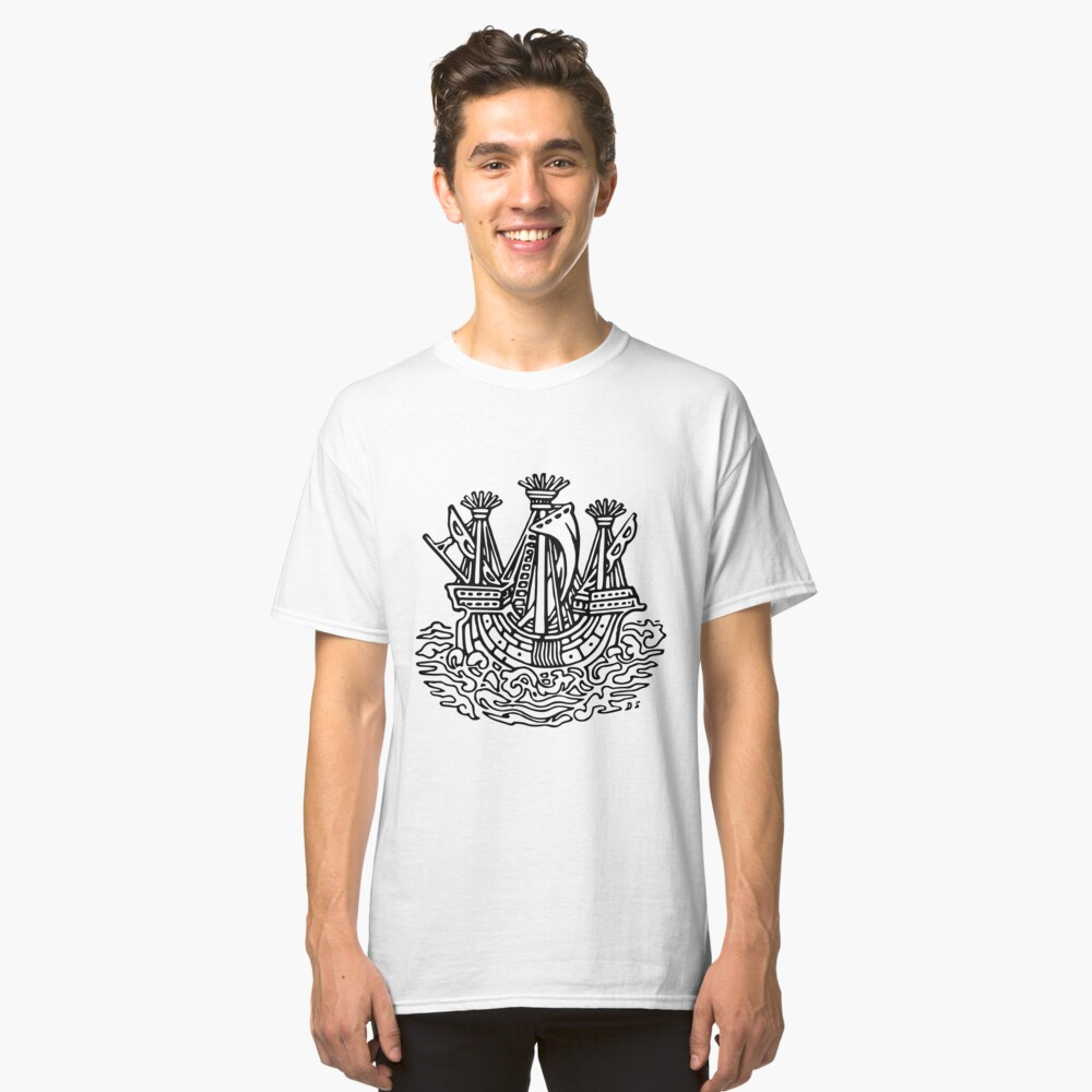 Stylised ship Classic T-Shirt Front