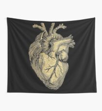 Glittering anatomical heart  Wall Tapestry