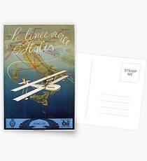 Vintage 1920s island plane shuttle Italian travel Postcards