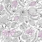 Leaf pattern - Handdrawn by Jessica Rooney Deane