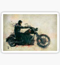 Motorcycle Rider  Sticker
