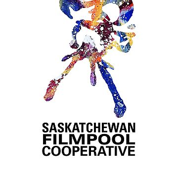 Saskatchewan Filmpool Cooperative large colourful logo - black by SaskFilmpool