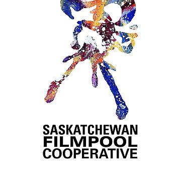 Saskatchewan Filmpool Cooperative large colourful logo - black by SaskFilmpool