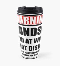 Warning Grandson Hard At Work Do Not Disturb Travel Mug