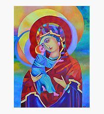 Virgin Mary with Child Jesus icon, Madonna and Child Photographic Print