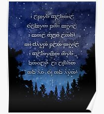 A Elbereth Gilthoniel - Sindarin Elvish Poster