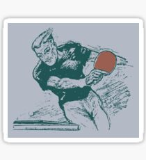Ping pong, retro vector expressionist Sticker