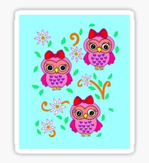 cute little owls Sticker