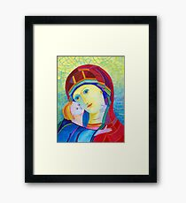 Madonna with infant Jesus icon  Framed Print